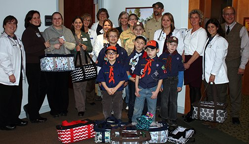 Boy Scout Donation to Foley Cancer Center
