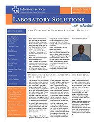 Laboratory Solutions Newsletter, Volume 1, Issue 1