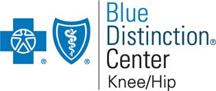 logo for blue distinction center knee/hip