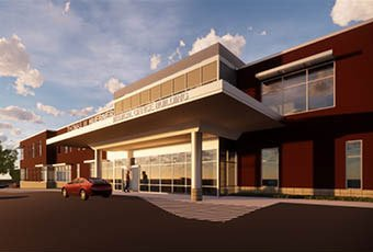 exterior rendering of medical office building