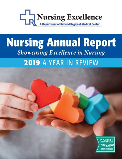 nurse on cover of annual report