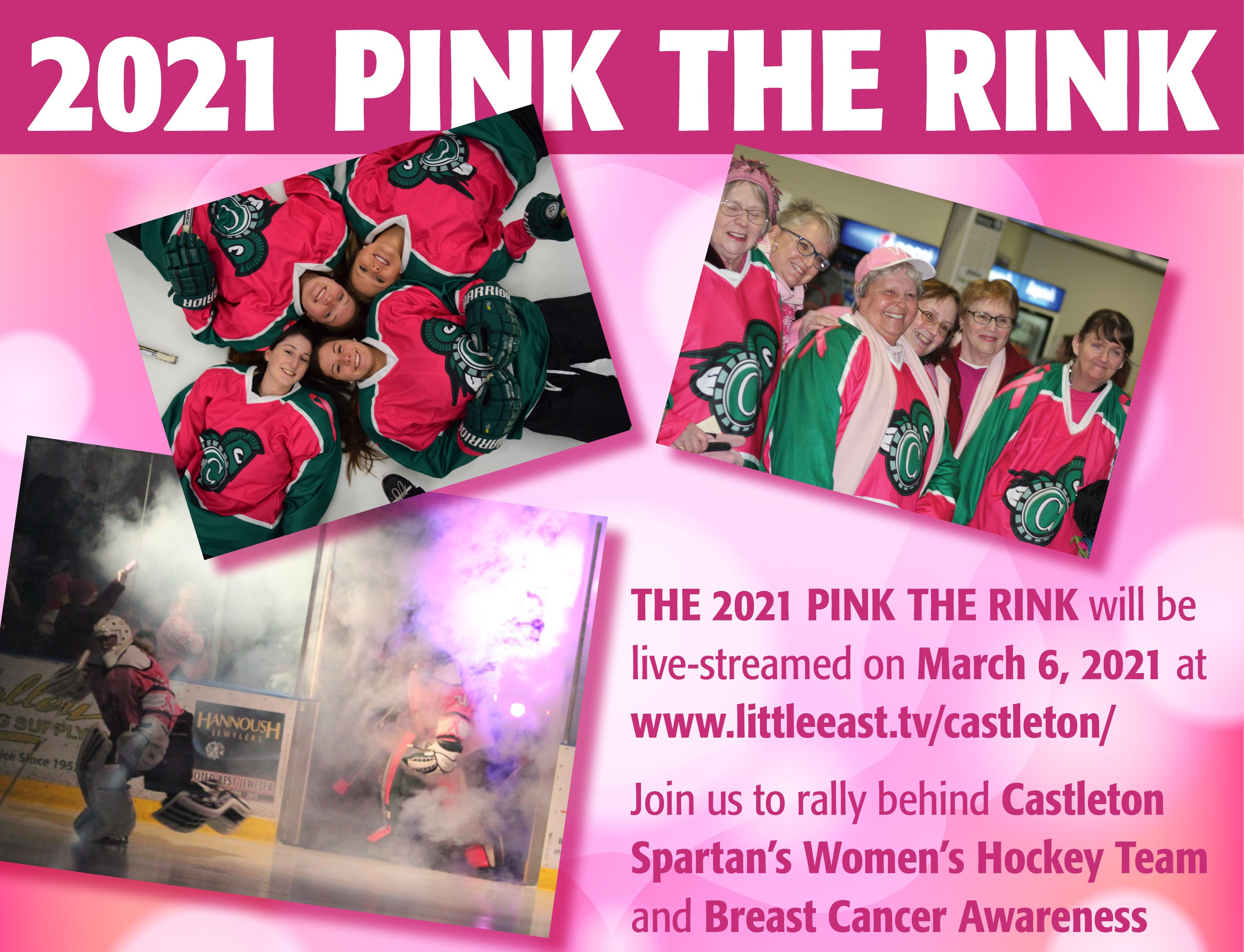 2021 pink the rink ice hockey game