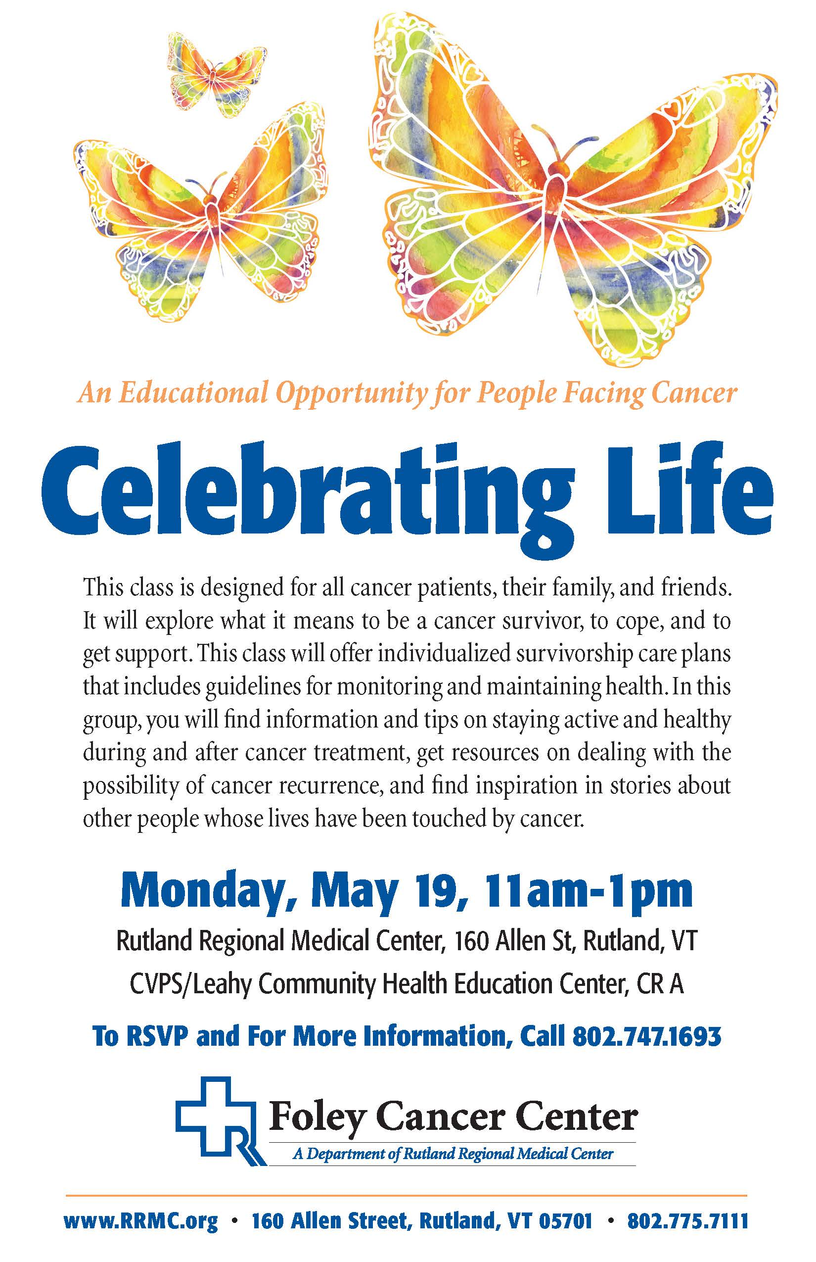 Celebrating Life: An Educational Opportunity for People Facing Cancer